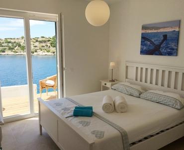 ... Korcula Schlafzimmer Mit Gemütlichem Doppelbett Und Ausgang Zur  Terrasse   Ferienwohnung Tranquillo Mit Strandlage, ...